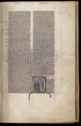 Historiated Initial With Moses And The Israelites, In A Bible